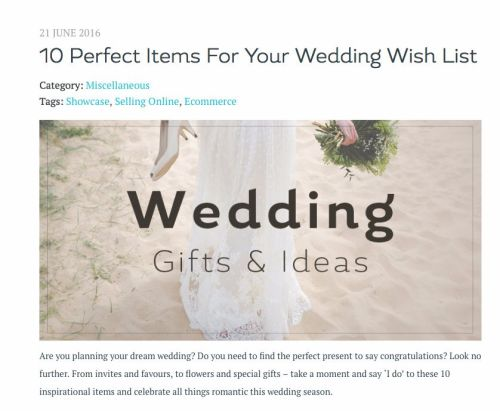 create wedding blog