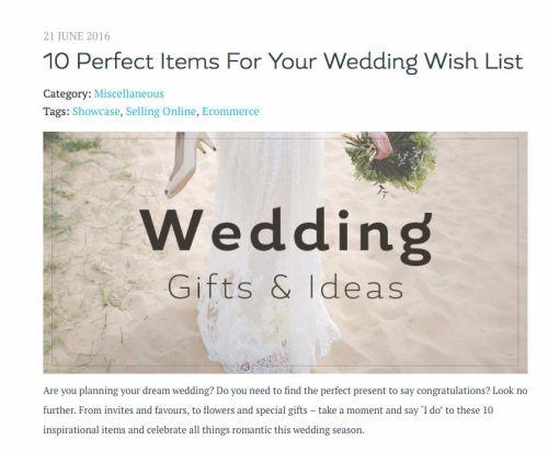 create wedding blog