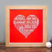 personalised love heart print (unframed)