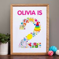 personalised childs birthday print (unframed)