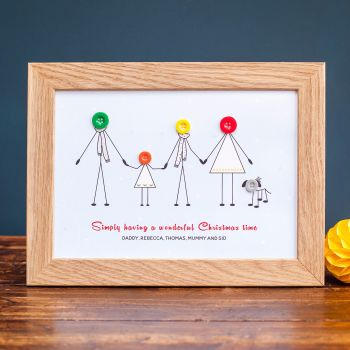 medium christmas family print (unframed)