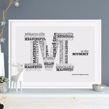 M is for Mum print (unframed)