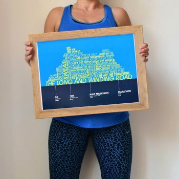 personalised running achievements print (unframed)