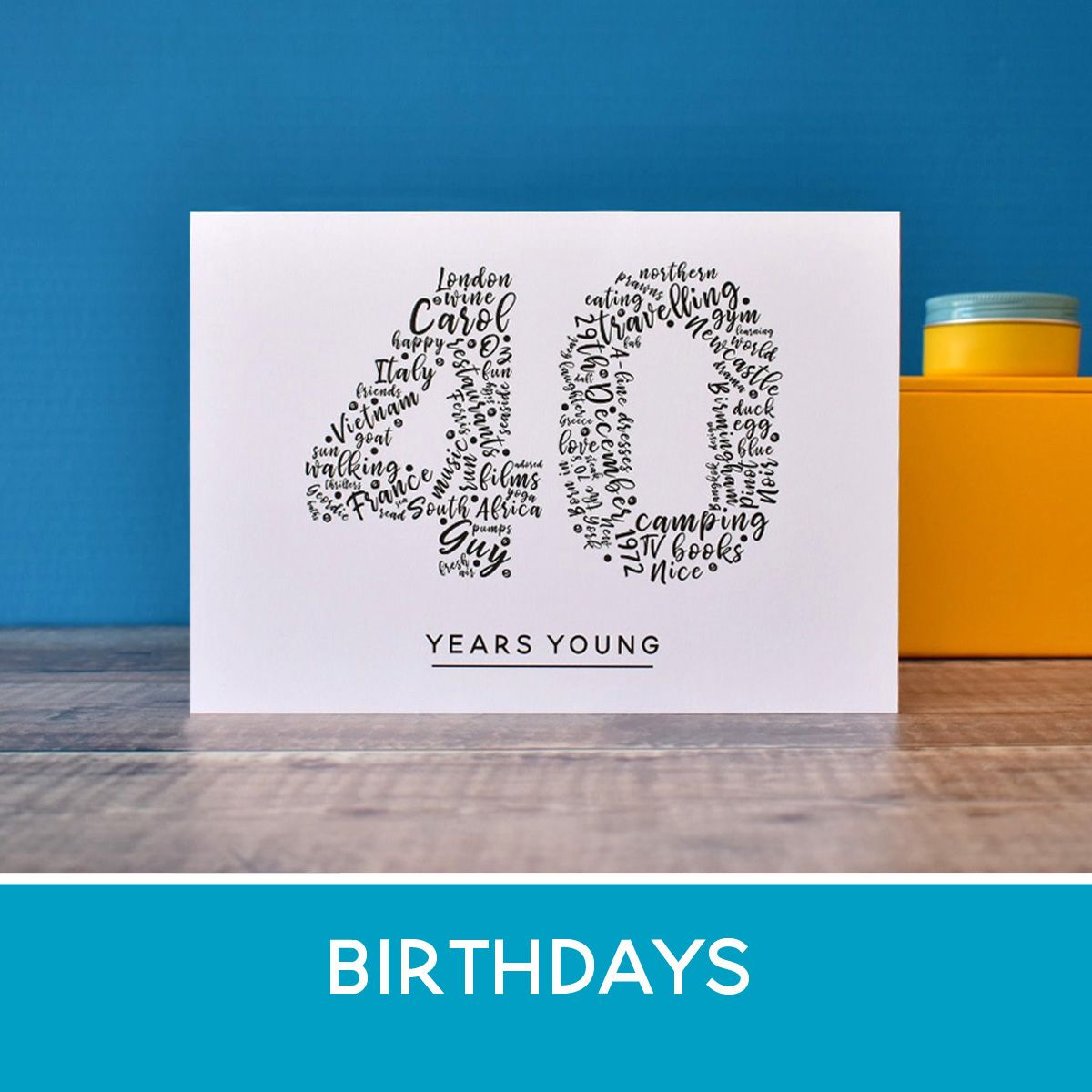 personalised birthday prints, cards and gifts