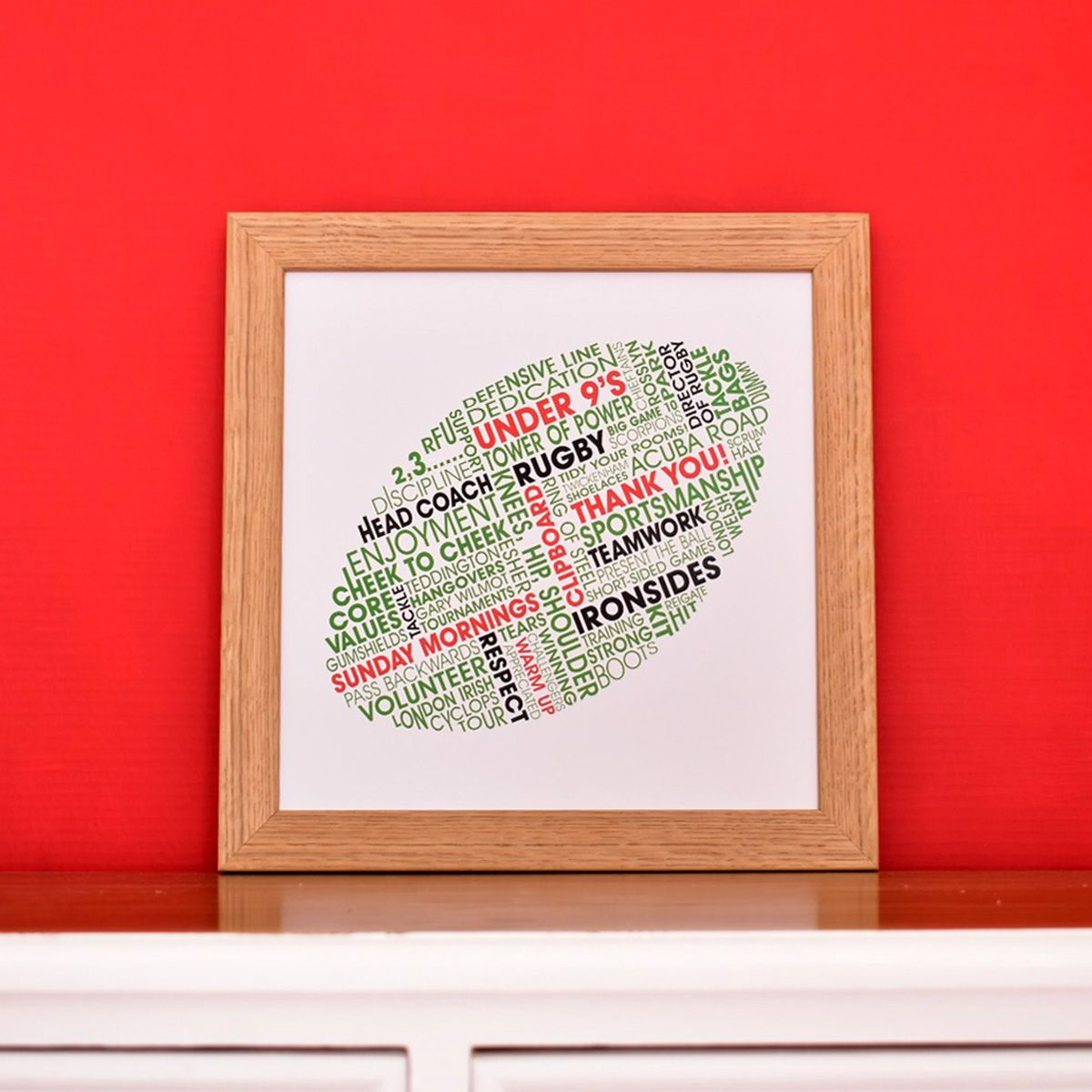 personalised rugby ball print
