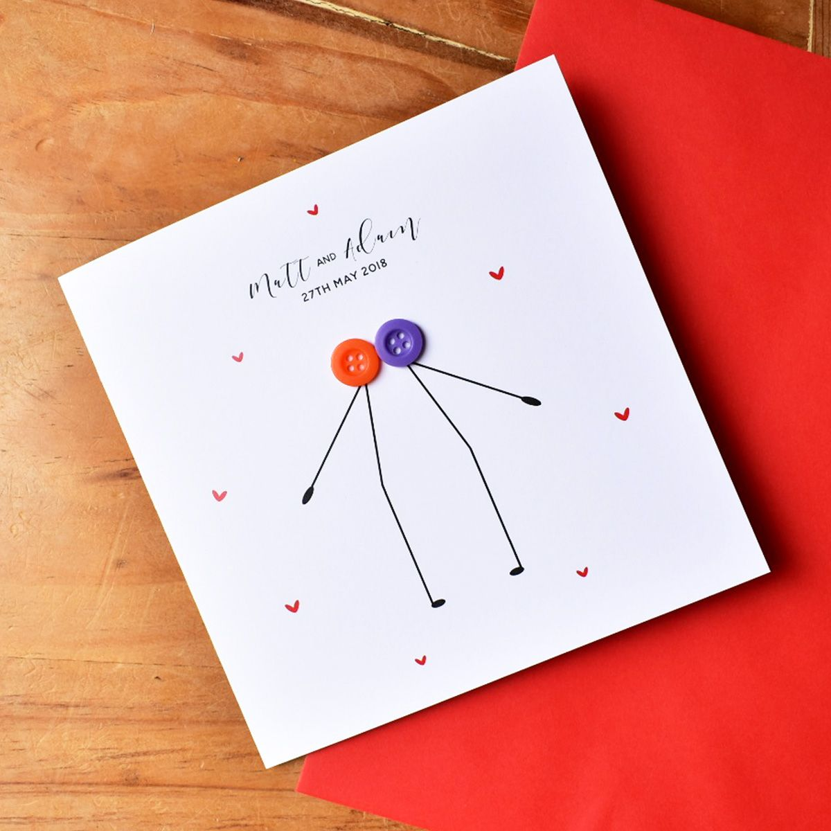 personalised civil ceremony card
