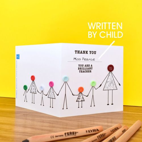 thank you teacher with children card