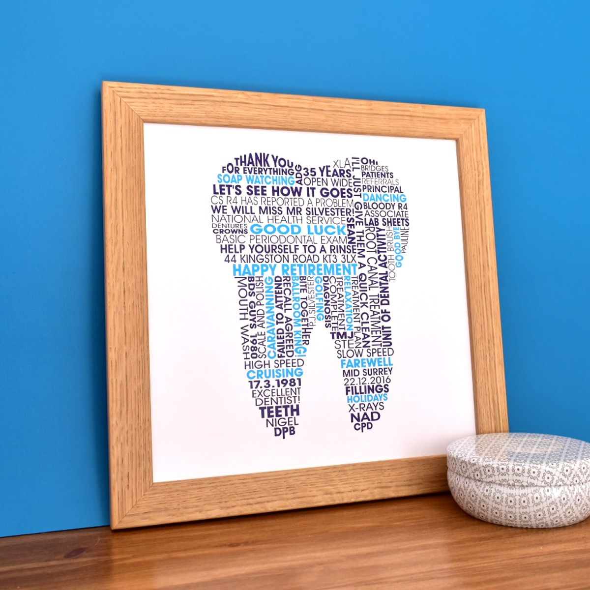 personalised tooth print for dentists