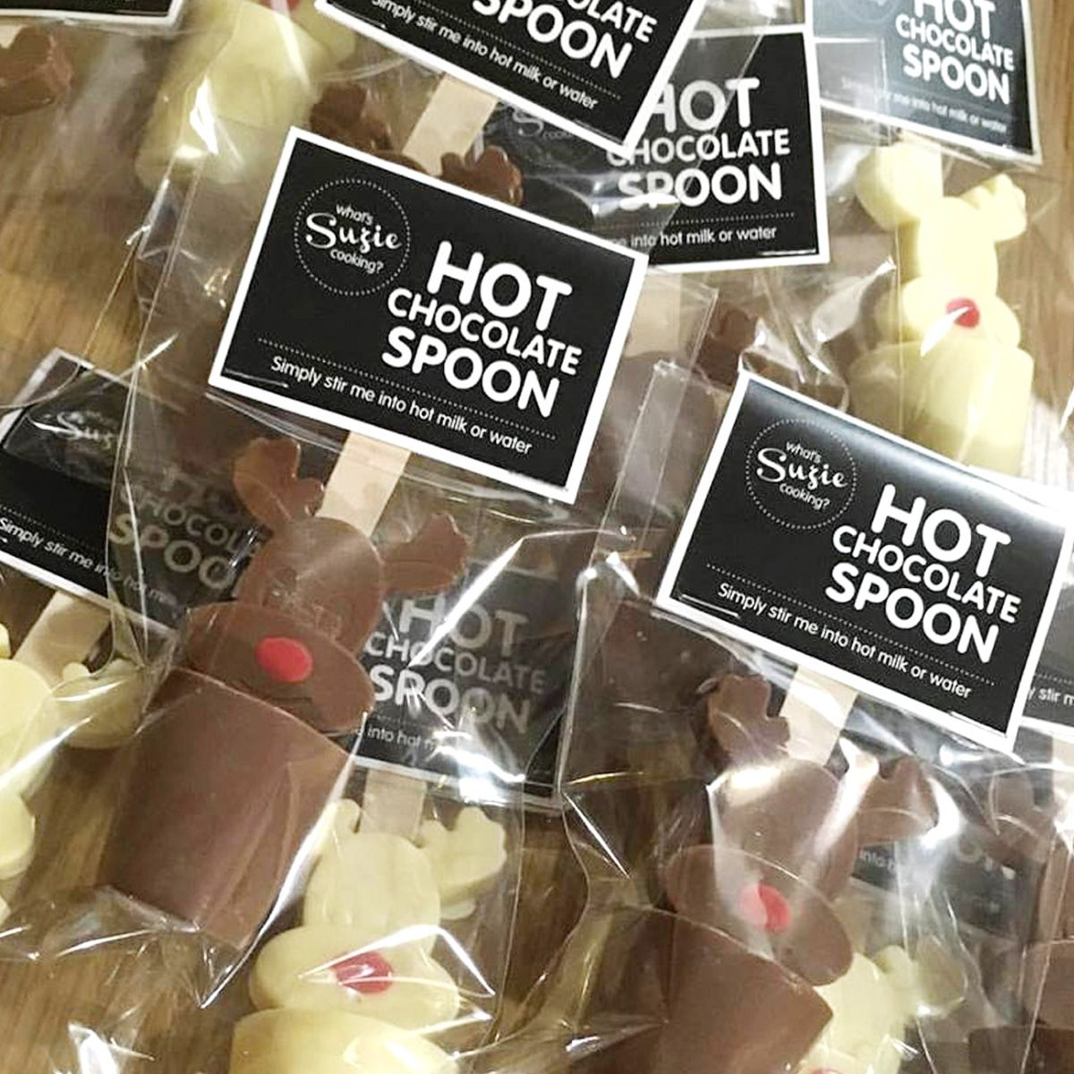 packaging design for hot chocolate spoons