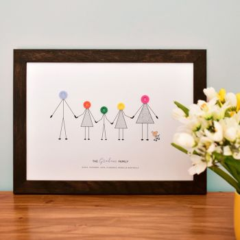 large personalised family print