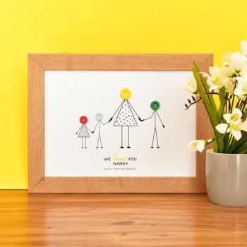 medium personalised grandma print (unframed)