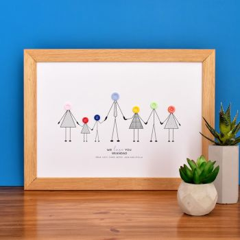 large personalised grandad print