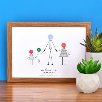 medium personalised grandad print