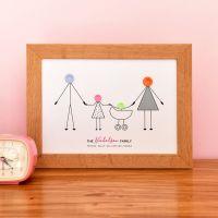 medium personalised family print