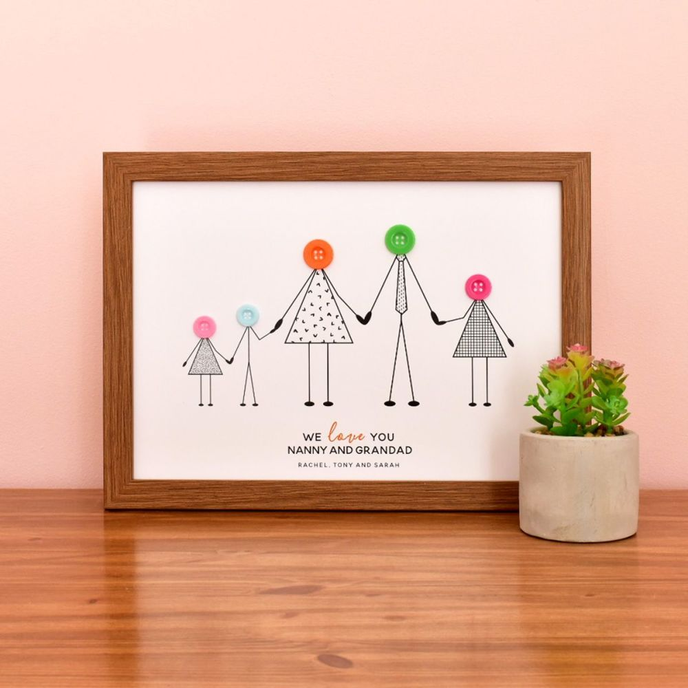 medium personalised grandparents print