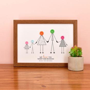 medium personalised grandparents print (unframed)