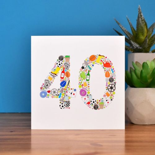 boys things 40th birthday card
