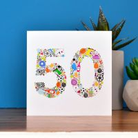 boys things 50th birthday card