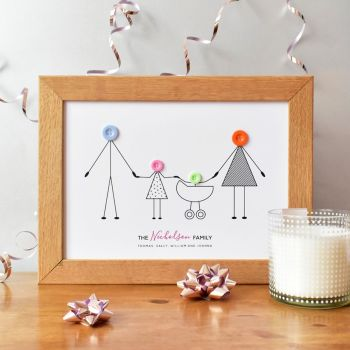 medium personalised family print