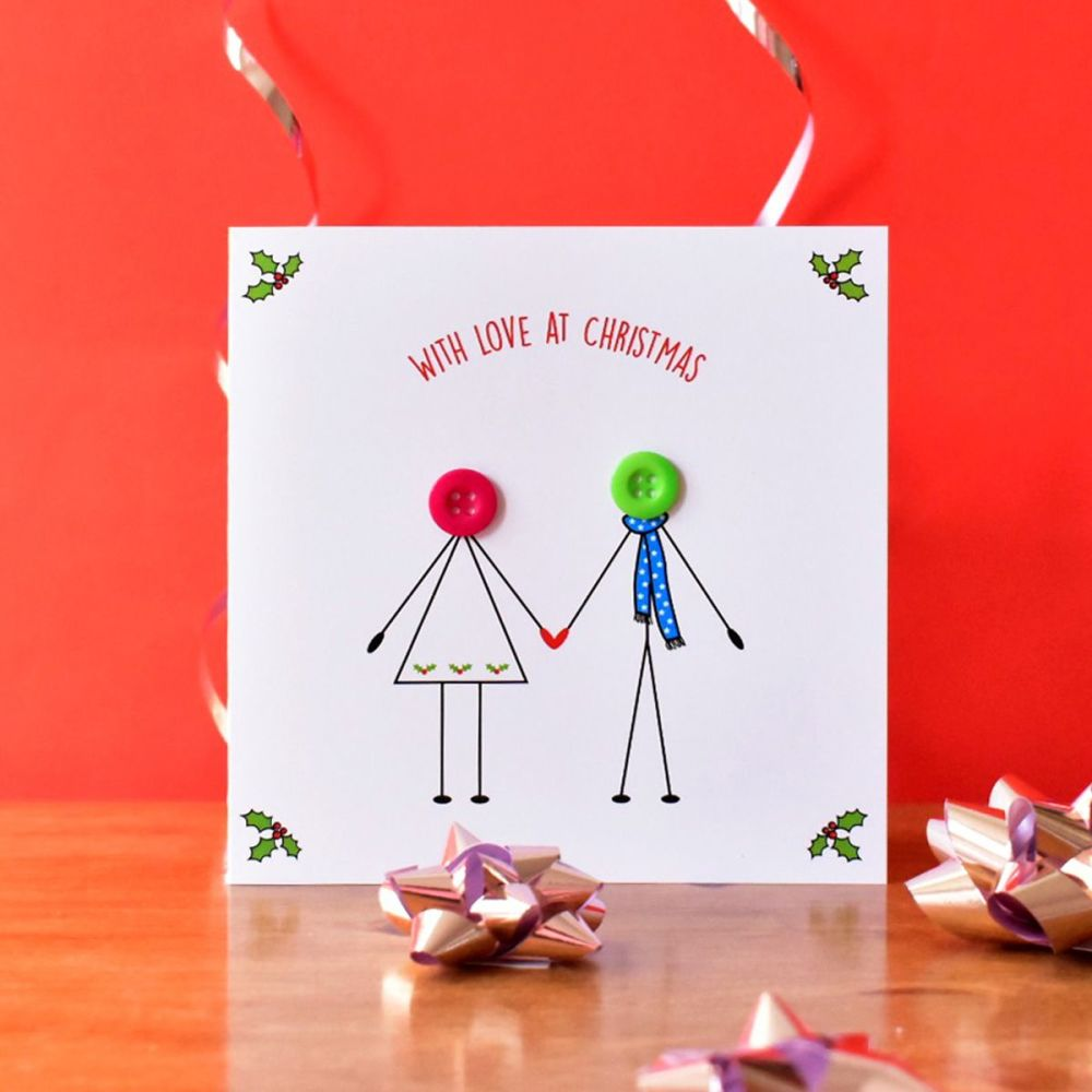 christmas couple in love card