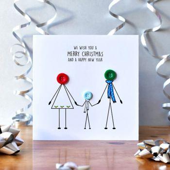 family christmas card - 1 boy