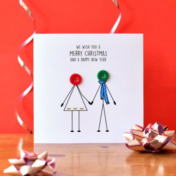 family christmas card - couple