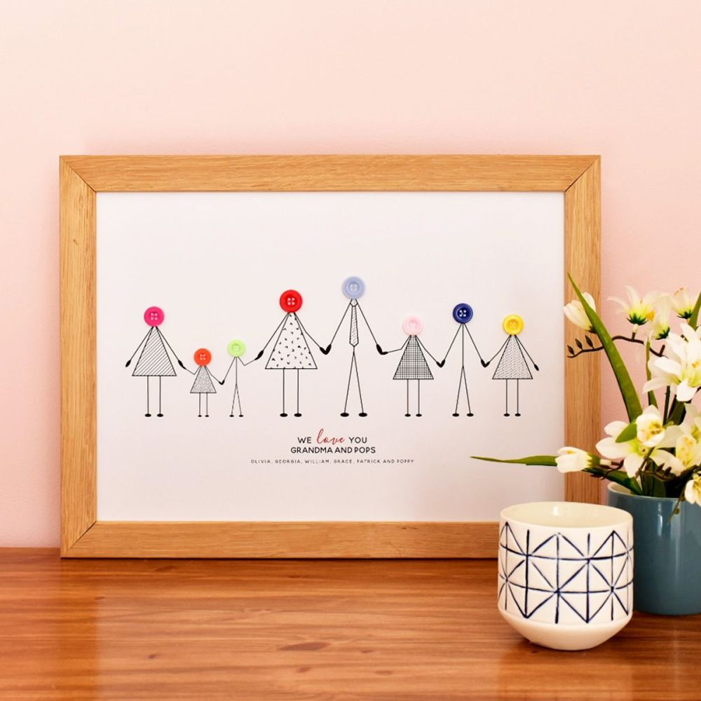 large personalised grandparents print (unframed)