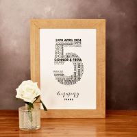 large personalised wedding anniversary print (unframed)