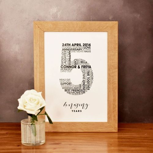 large personalised wedding anniversary print (unframed)