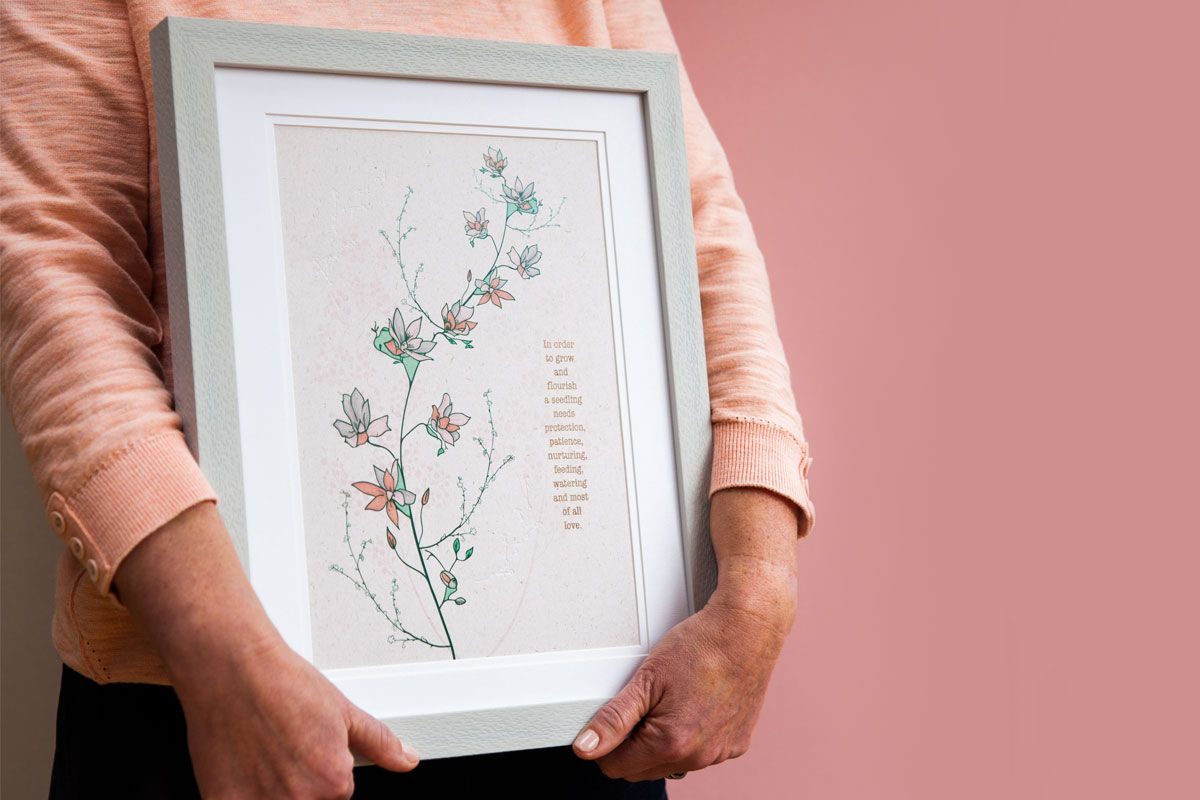 seedling thank you mum print
