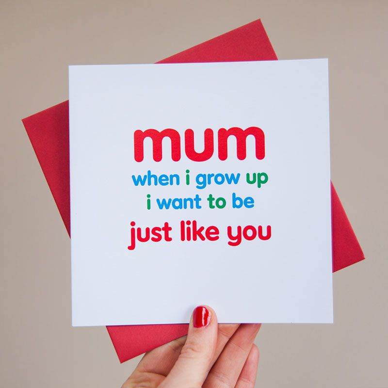 just like you card for mum
