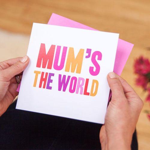 mum's the world card