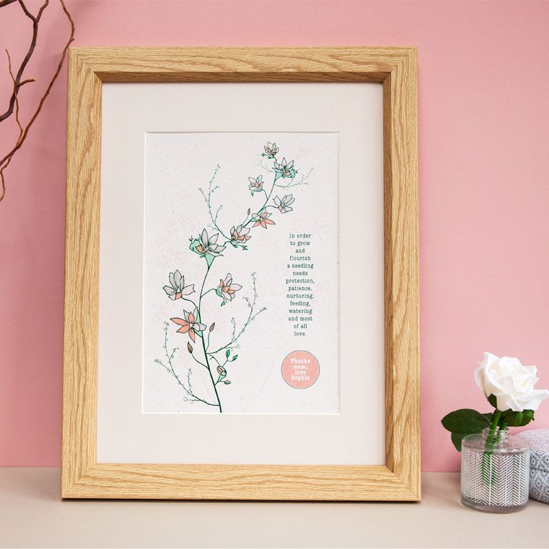 from seedling to flowers print