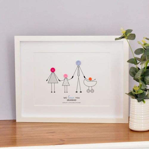 medium personalised grandad print (unframed)