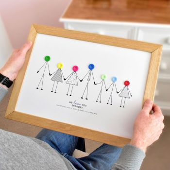 large personalised grandad print (unframed)