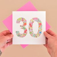 girlie things 30th birthday card