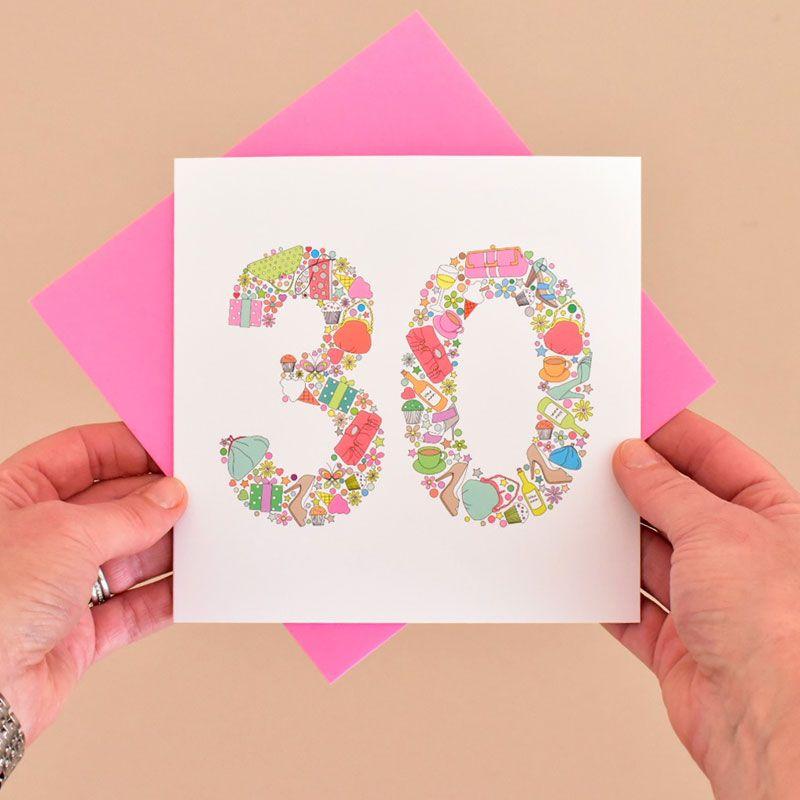 girlie things 30th birthday card