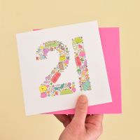 girlie things 21st birthday card