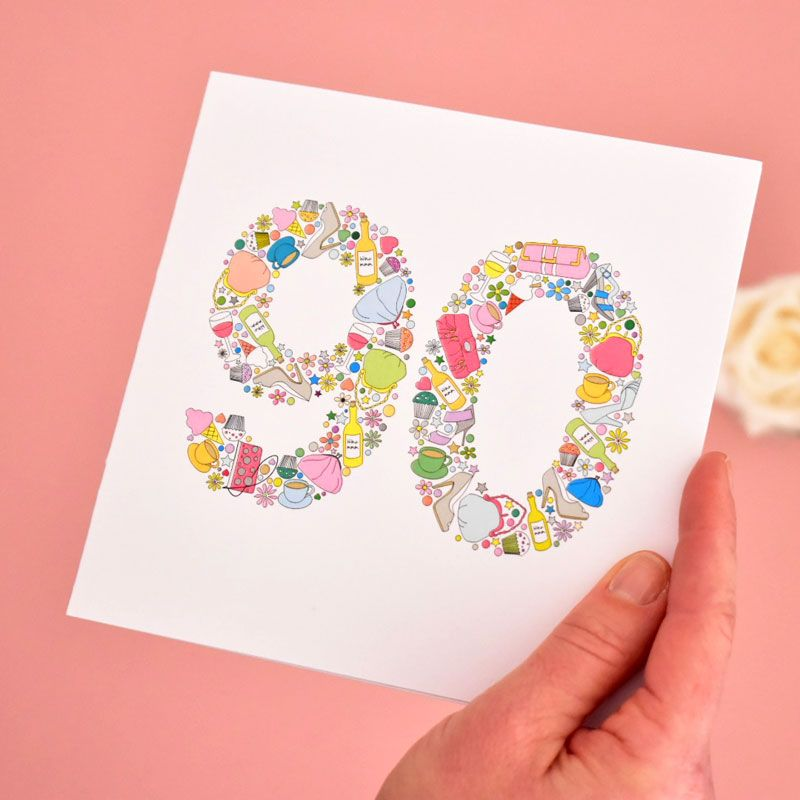 girlie things 80th birthday card