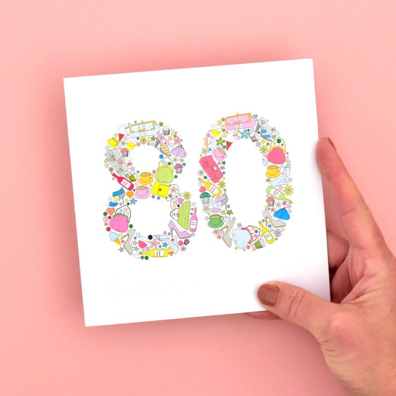 birthday card for females age 80
