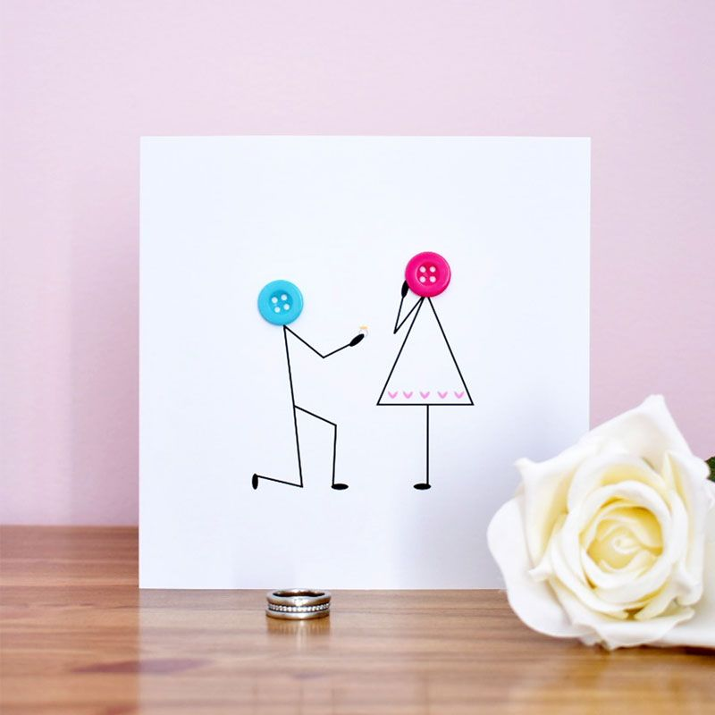 engagement button people card