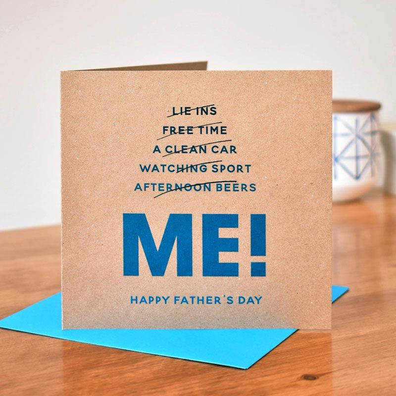 'me' funny father's day card