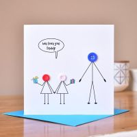 children with dad card - LIMITED STOCK LEFT