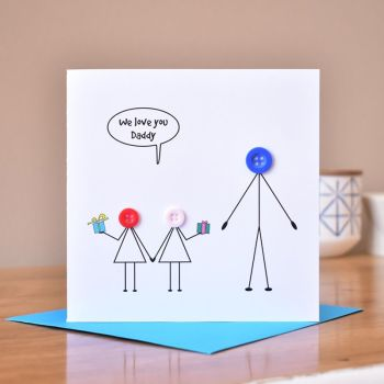 children with dad card