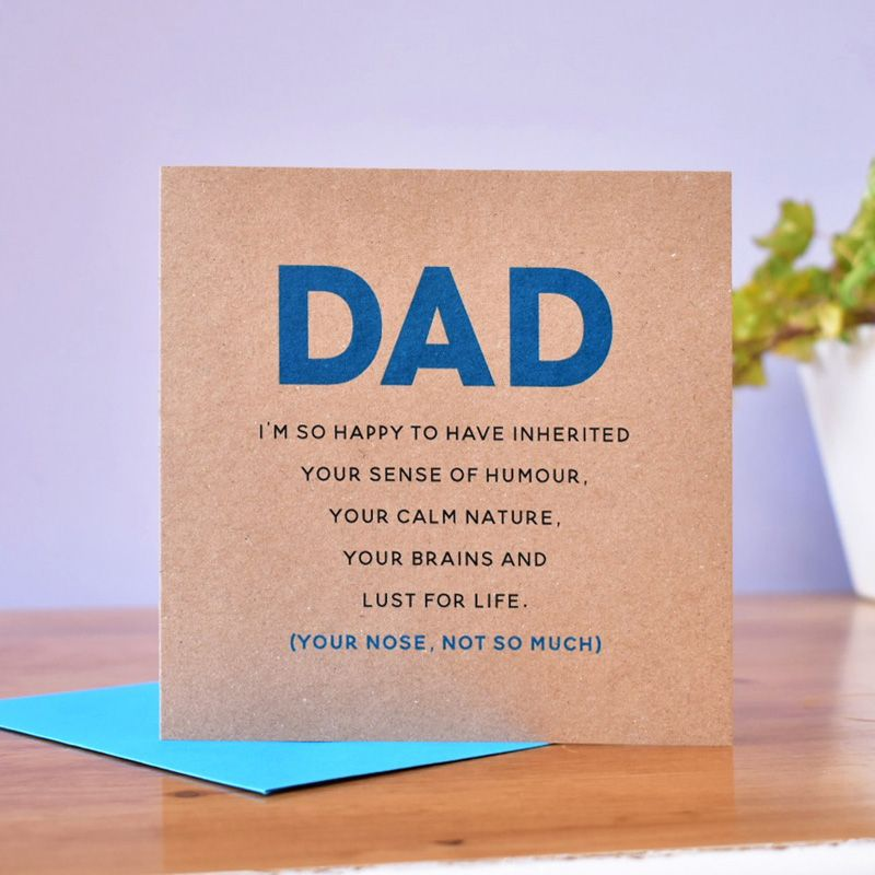 inherited from dad personalised father's day card