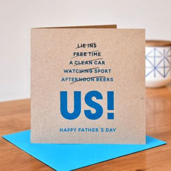 'us' funny father's day card