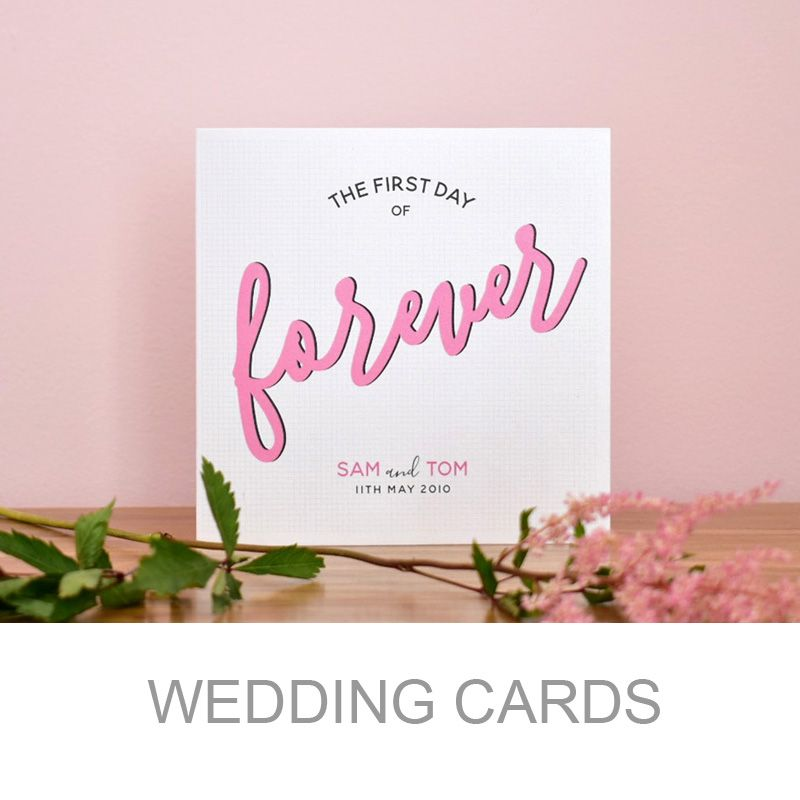 the first day of forever wedding congratulations card