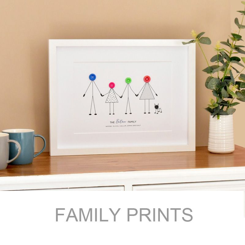 personalised button family print