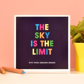 the sky is the limit congratulations card