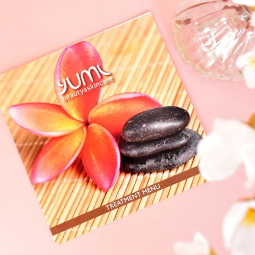 brochure design for yumi beauty business